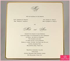 formal wedding invitations wedding invitations in the philippines get formal wedding
