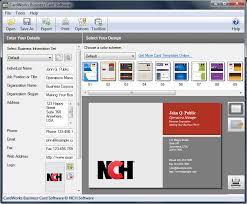 Creating Business Card Cardworks Business Card Software Screenshots