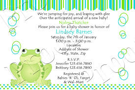 frog baby shower fanci prints by frog baby shower invitations