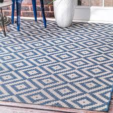Outdoor Blue Rug Nuloom Indoor Outdoor Moroccan Geometric Blue Rug 5 3 X 7