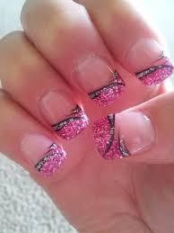 pretty acrylic nail designs photo 3 glitter color animal print