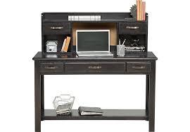 Computer Desk With Hutch Creekside Charcoal Desk And Hutch Desks Colors