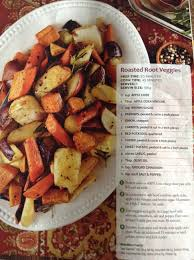 roasted root veggies from heb magazine made this with
