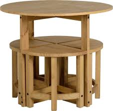 Space Saving Table And Chairs by Corona Stowaway Dining Set Mexican Solid Pine 4 Stools Kitchen