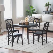 5 Piece Card Table Set Wood Folding Table And Chairs Set Bistro Table And Chair Sets