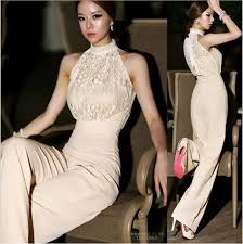 lace jumpsuits lace jumpsuits for halter pearl collar strapless