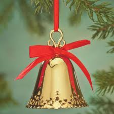 personalized gold bell ornament engraved walter