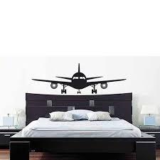 Headboard Wall Decal Aliexpress Com Buy Buckoo Removable Wall Stickers Airplane