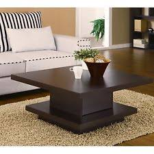 Modern Living Room Tables Square Cocktail Table Coffee Center Storage Living Room Modern