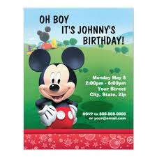 mickey mouse birthday mickey mouse birthday invitation zazzle