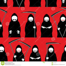 free halloween background texture death seamless pattern grim reaper red background texture for