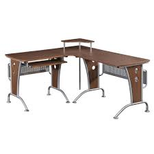 deluxe loft style l shaped computer desk free shipping today
