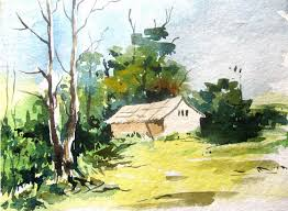 easy landscape paintings for beginners easy landscape painting