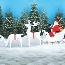 santa sleigh reindeer outdoor yard decoration new sale