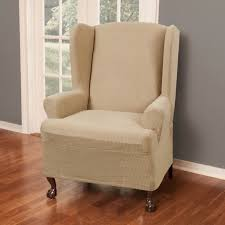 Stretch Wing Chair Slipcover Maytex Reeves Stretch Wing Chair Slipcover Free Shipping Today