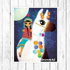 Amazon Com Modern Teen Girls by Amazon Com Llama Room Decor For Girls Baby Nursery Wall Art
