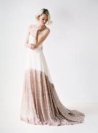 sequined wedding dress a modern chiffon and gold sequined wedding