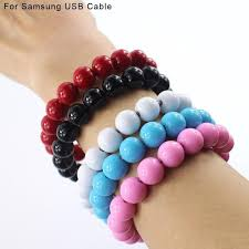 bracelet cord beads images Buddha beads bracelet micro usb charger cable 24cm or so data sync jpg