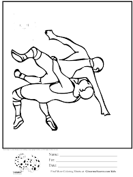 olympic wrestling coloring page kids activities pinterest