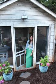 shed turned boho screened porch thewhitebuffalostylingco com