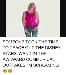 Disney Girl Meme - someone took the time to trace out the disney stars wand in the
