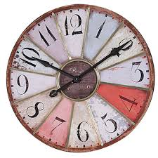 Multi Colored Wall Clock DE1174 Wall Decor & Clock