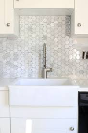 installing tile backsplash in kitchen how to install a marble hexagon tile backsplash kitchen backsplash