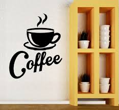 compare prices on cafe wall decal online shopping buy low price kitchen fashion coffee mugs wall stickers vinyl wallpaper living room cafe art home art wall decals