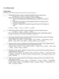 ch 03 study guide solubility hydroxide