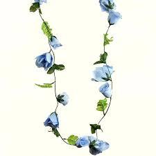 flower garland 6ft supersized uv protected light blue flower garland chain