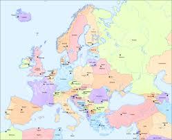 Map Of Eurpoe Simple Map Of Europe Grahamdennis Me