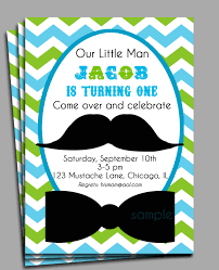 little man mustache invitation printable or printed with free