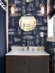Toile Bathroom Wallpaper by Toile Wallpaper Bathroom Houzz