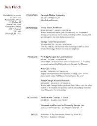 Draft Resume Resume Rough Draft Ben Finch Cdf