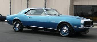 blue 68 camaro 1968 camaro paint codes