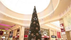 Last Minute New Years Decorations by Beautiful Christmas Tree In Shopping Mall Centre Center Last