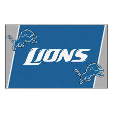 Detroit Lions Home Decor by Fanmats Detroit Lions 4 Ft X 6 Ft Area Rug 6575 The Home Depot