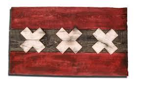 Flag Of Netherlands Weathered Wood One Of A Kind Amsterdam Flag Wooden Vintage Art
