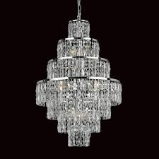 Chrome Crystal Chandelier by Impex Cf03220 08 Ch New York 8 Light Cascade Chandelier Chrome And