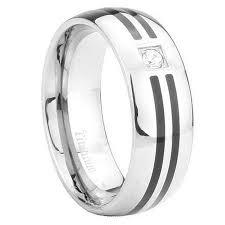 comfort fit ring 8mm black enamel cz titanium comfort fit ring size 10 walmart