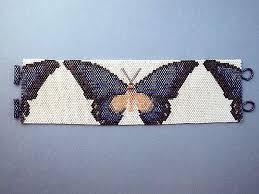 beaded butterfly bracelet images Peyote beadwork bracelets jpg