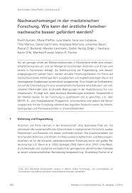 Wellmann K Hen Nachwuchsmangel In Der Medizinischen Forschung Wie Kann Der