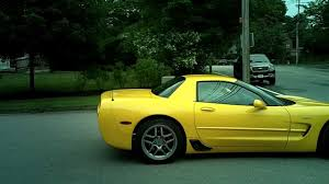 yellow corvette c5 fhd yellow corvette c5 z06 startup and acceleration