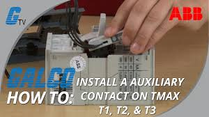 installing an auxiliary contact to abb u0027s tmax series t1 t3