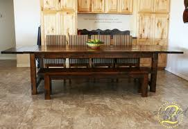 DIY Farmhouse Table With Extensions Addicted  DIY - Diy dining room table plans