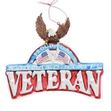 proud to be a veteran military christmas ornament military