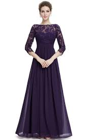 lace paneled sleeve floor length evening dress oasap