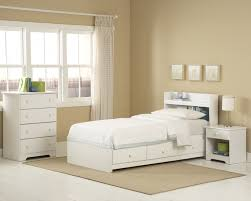 white twin storage bed with bookcase headboard 8529