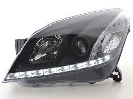 opel astra 2004 black vauxhall astra h mark 5 led black drl daylight running lights