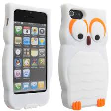 niceeshop tm white owl design 3d silicone cover